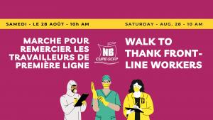 Marche pour remercier les travailleurs de première ligne